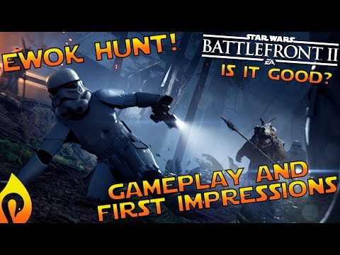 Gameplay and First Impressions of Ewok Hunt In Star Wars Battlefront 2!