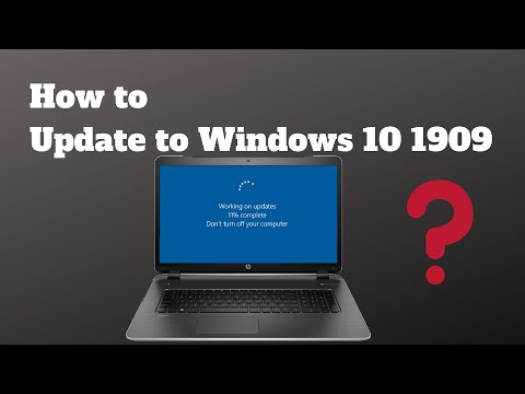 How To Update To Windows 10 1909