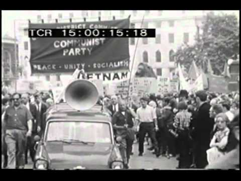 Vietnam War Protest Demonstation Footage- Hanging Out Project