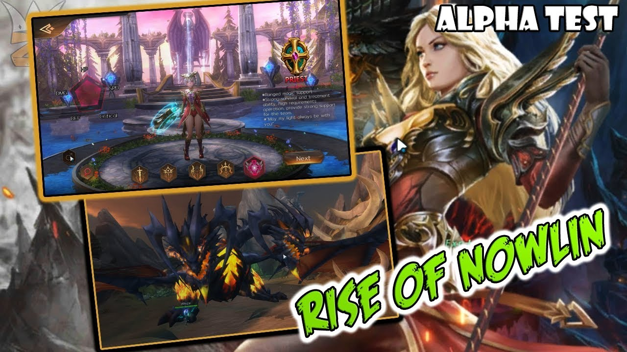 VERY RELAXING MMORPG GAME!! | RISE OF NOWLIN (ALPHA TEST)