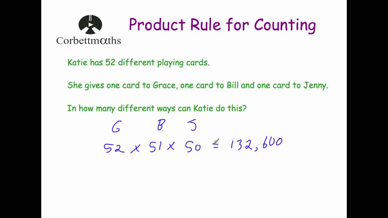 rule counting corbettmaths