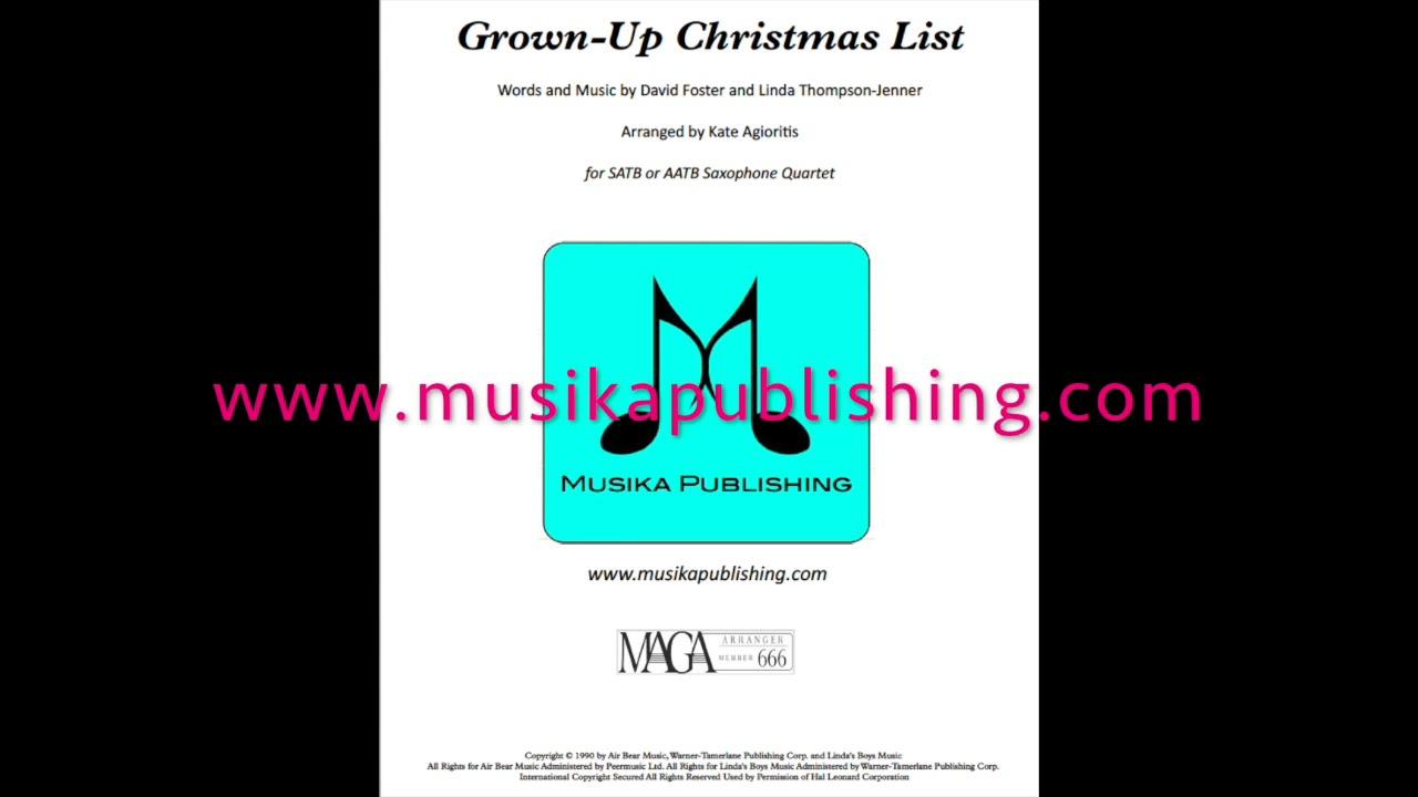 my grown up christmas list sheet music - Yelom.digitalsite.co