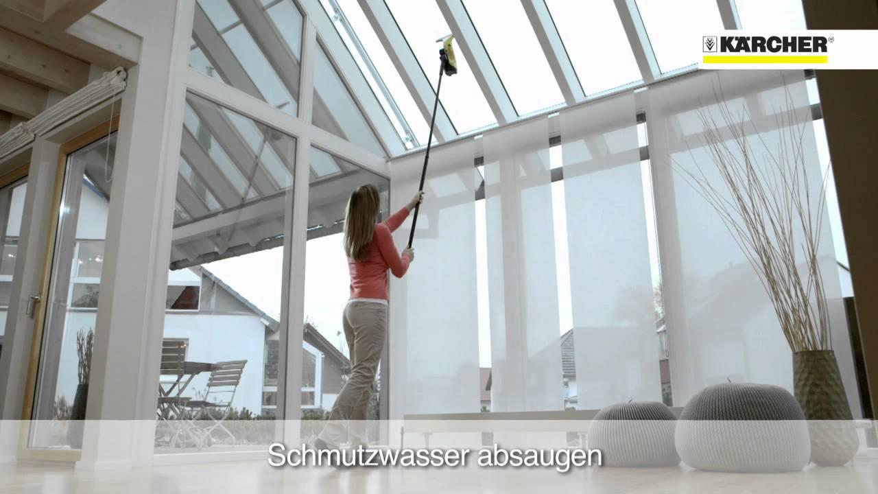k rcher fensterreiniger wv 2 wv 5 verl ngerungsset youtube. Black Bedroom Furniture Sets. Home Design Ideas