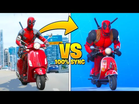 *NEW* Fortnite Dances & Emotes In Real Life..! (100% Sync)