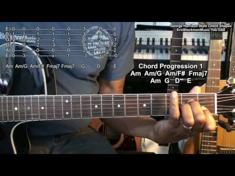 The Beatles George Harrison Chord TABS Tutorial While My Guitar Gently Weeps