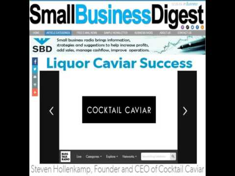 Cocktail Caviar CEO Talks Product Launch in Las Vegas - Small Business Digest Radio - 12.16.15