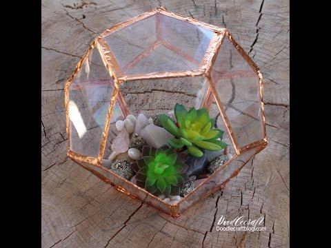 DIY Geometric terrarium with copper