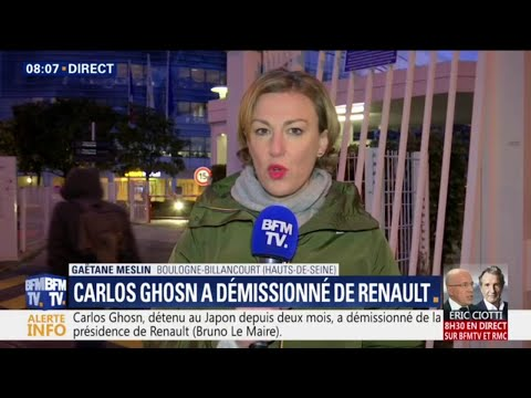 Carlos Ghosn a démissionné de son poste de président de Renault