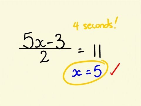 Algebra Shortcut Trick  - how to solve equations instantly