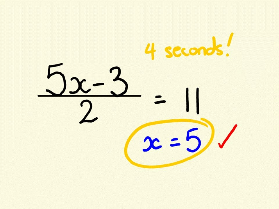 algebra shortcut trick how to solve equations instantly