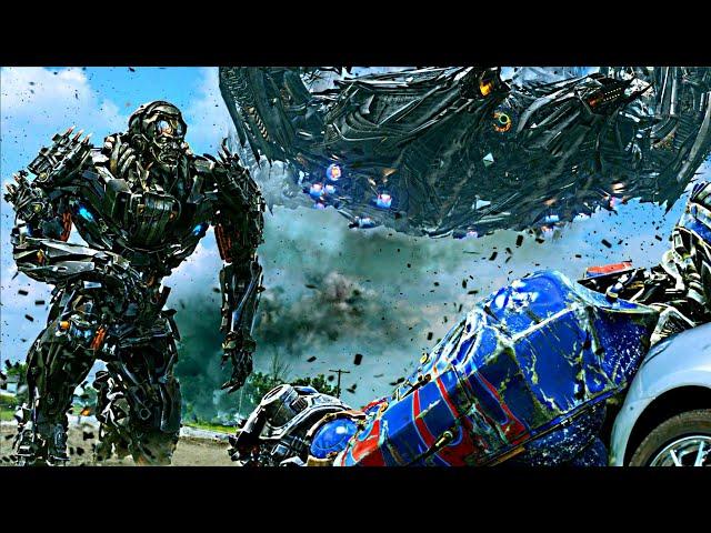 Transformers Age Of Extinction Optimus Prime Vs Galvatron And Lockdown Scene 1080Phd Vf