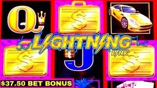 High Limit Lightning Cash Slot Machine Bonuses Up To $37.50 Bet | $2,500.00 vs Lightning Link Slot