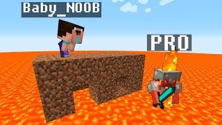Minecraft BABY NOOB vs PRO trolling TRAPS to Family challenge Minecraft Battle animation