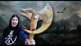 Skyrim Daedric Axe in REAL LIFE! ZGB Style
