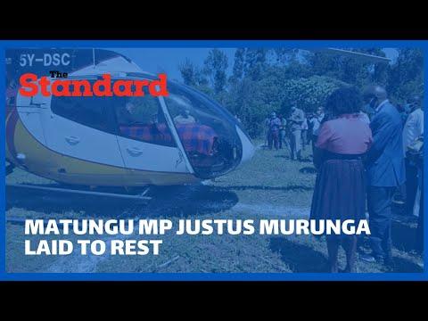 Matungu MP Justus Murunga buried today at his home at Makunda village
