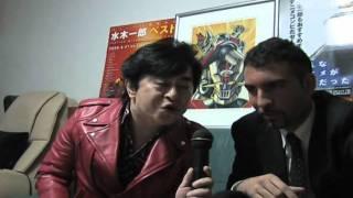 Mizuki Ichiro and spanish Amir Garcia duet singing Mazinger Z in Japan