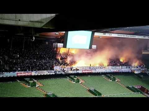 4400 Rostocker entern das Weserstadion 02.03.2018   BREMEN II - FC HANSA ROSTOCK