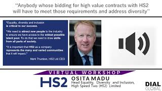 Virtual Webinar: OSITA MADU, Head of EDI at HIGH SPEED TWO (HS2) LIMITED