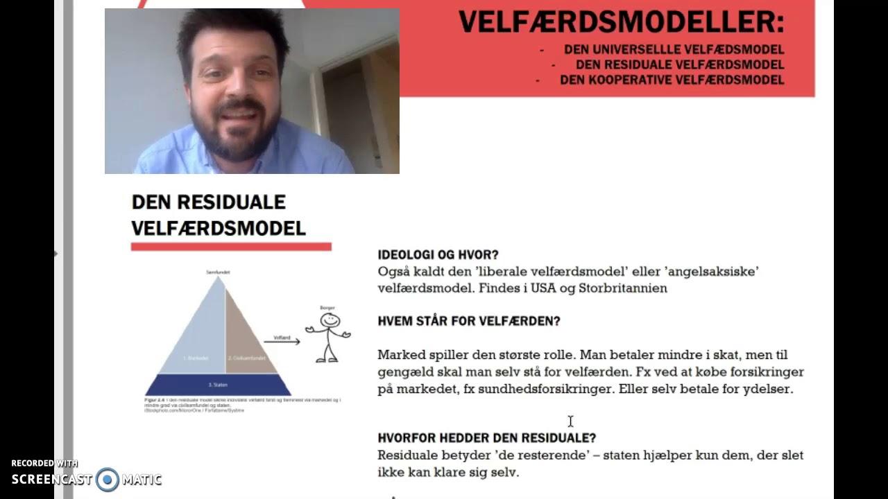 Velfærdsmodeller - samfundsfag