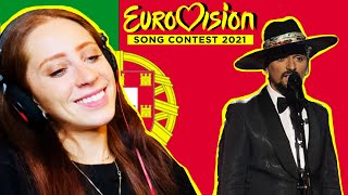 ENGLISH GIRL REACTS TO PORTUGALS SONG FOR EUROVISION 2021 // THE BLACK MAMBA // LOVE IS ON MY SIDE