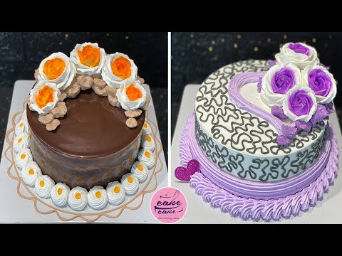 Most Satisfying Cake Decorating Tutorials For Love Anniversary   Anniversary Cakes Decorating Ideas