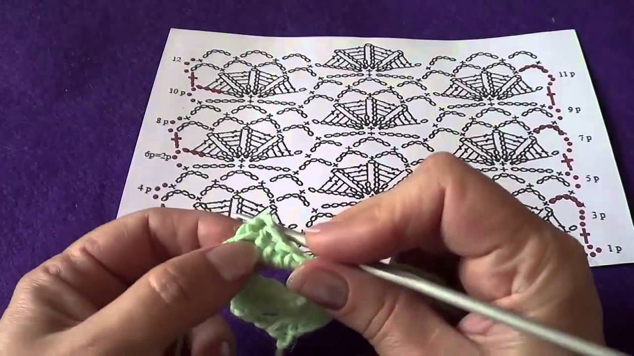 Learn Crochet Patterns Japanese Fan Pattern Diy How To Youtube