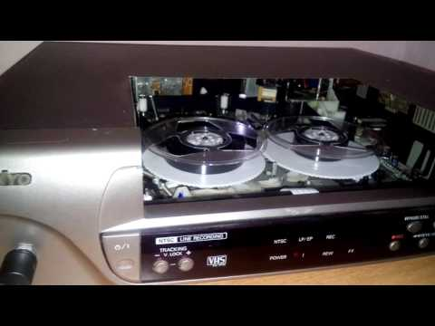 Video Cassette recorder converted to reel to reel audio recorder