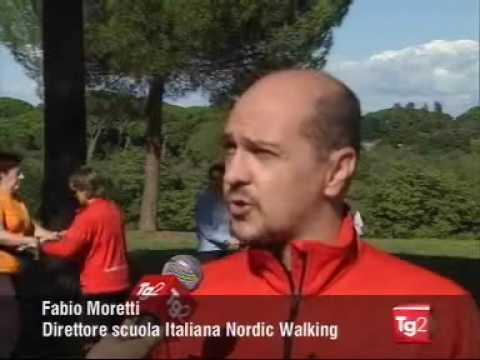 """Nordic Walking al TG2 su """"Costume & Società"""""""