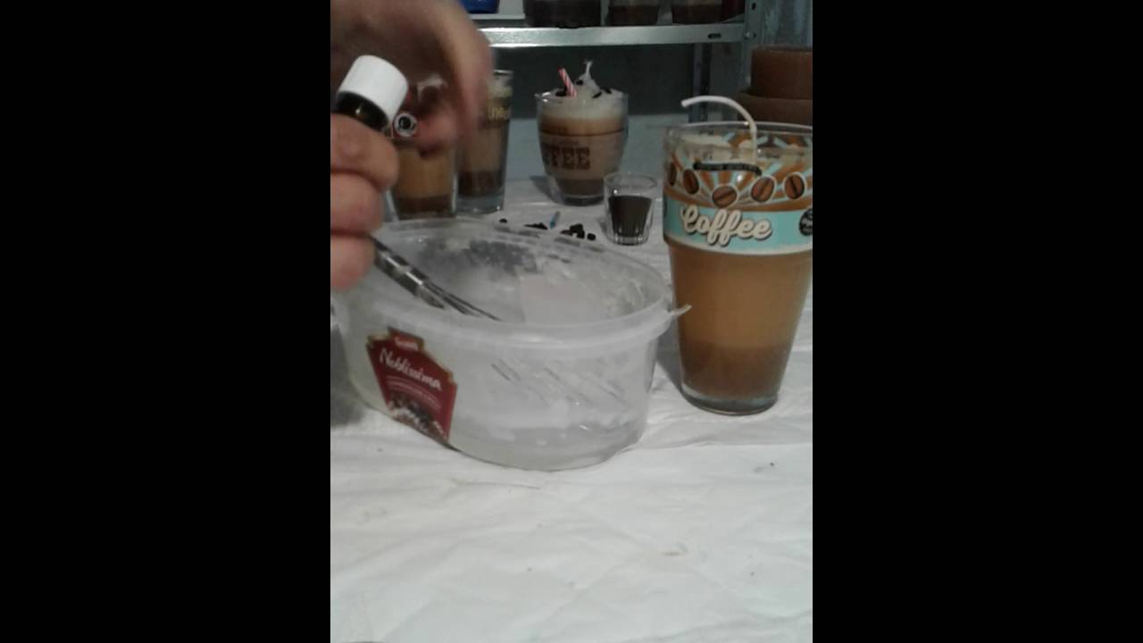 Beliebt DIY Kaffee Kerze, Latte Macciato Kerze herstellen, Basteltip MX78
