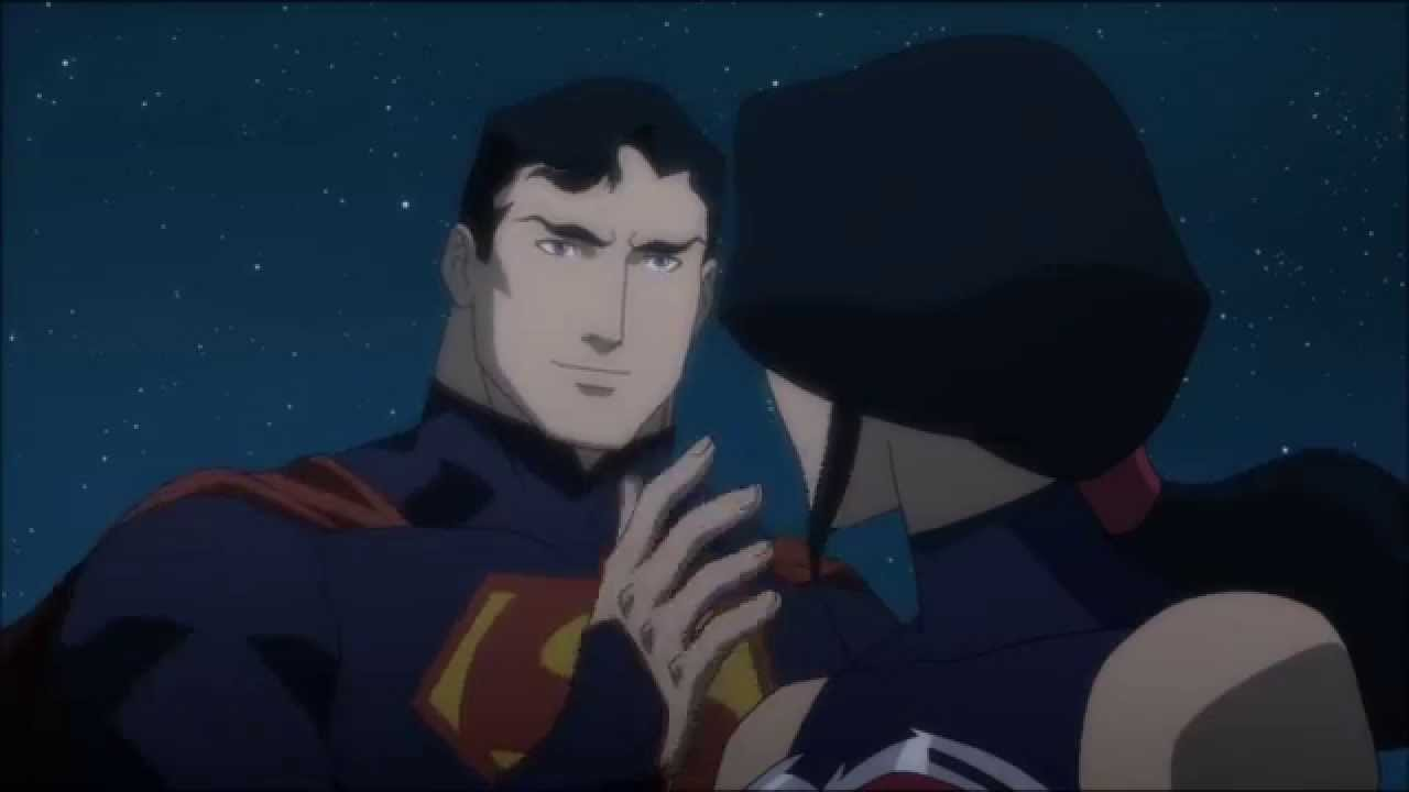 Superman wonder woman the kiss youtube - Superman wonder woman cartoon ...