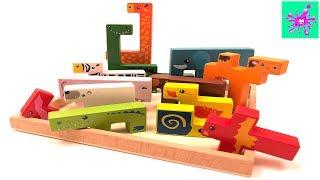 Learn Animals | Creative Animal Building Blocks | Funny Animals