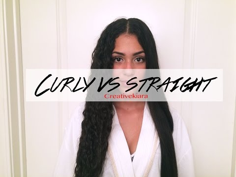 Curly vs. Straight Hairstyles