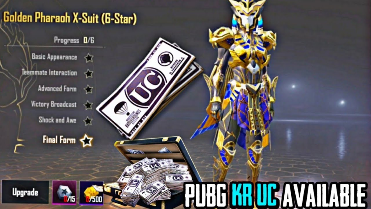 HOW TO BUY UC IN PUBG KR PAHRAOH X - SUIT AVAILABLE IN KOREA VERSION  UC AVAILABLE IN KOREA VERSION