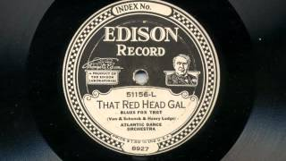 That Red Head Gal by Atlantic Dance Orchestra, 1923
