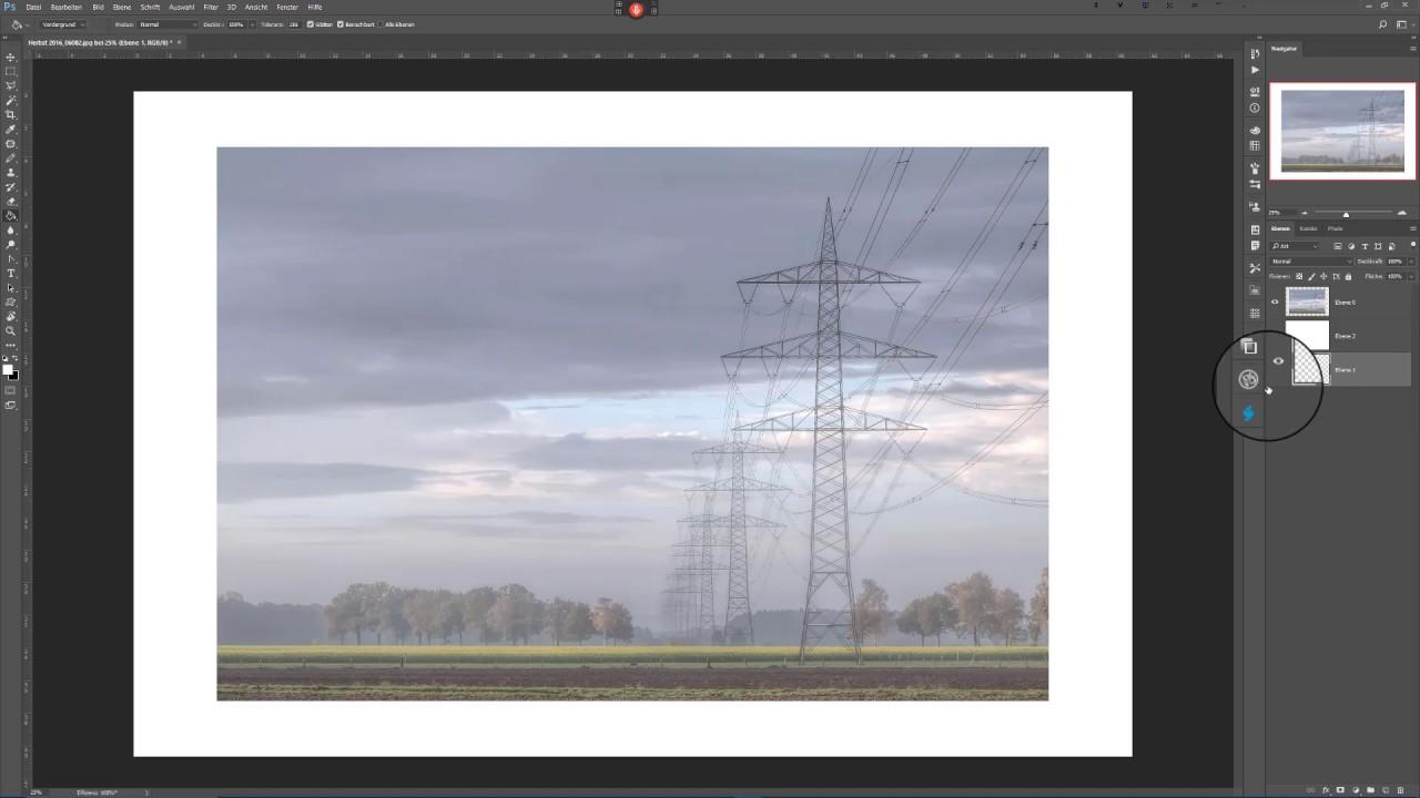 Erstellung eines Passepartouts in Photoshop - YouTube