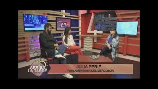 Julia Perie Parlamentaria del Mercosur   Arriba la Tarde 11 09 19