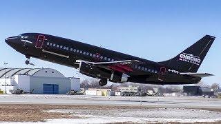 Chrono Aviation Boeing 737-200 Combi Airside Departure from Montréal/Saint-Hubert!
