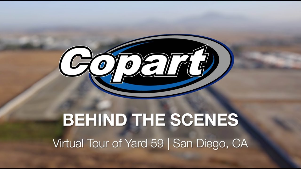 Copart Behind The Scenes Virtual Tour Of Yard 59 San Go Ca