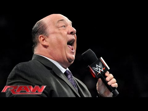 Paul Heyman offers some advice to Roman Reigns: Raw, March 2, 2015