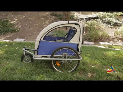 ac87063de79 Aosom: Elite II 3-in-1 Double Child Baby Bike Trailer and Stroller - YouTube