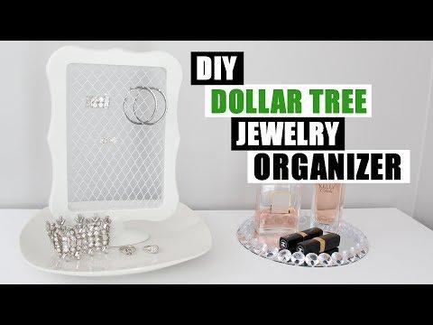 DOLLAR TREE DIY JEWELRY ORGANIZER   Easy Home Decor
