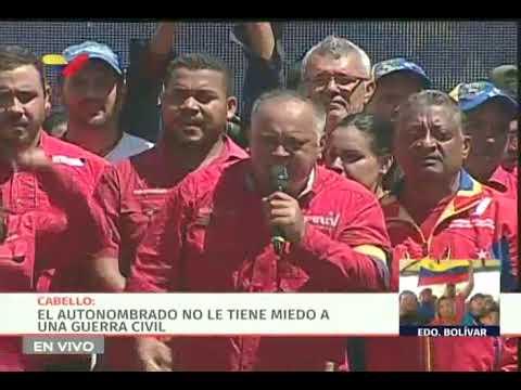 Diosdado Cabello responde a Guaidó: Yo sí le tengo miego a una guerra civil
