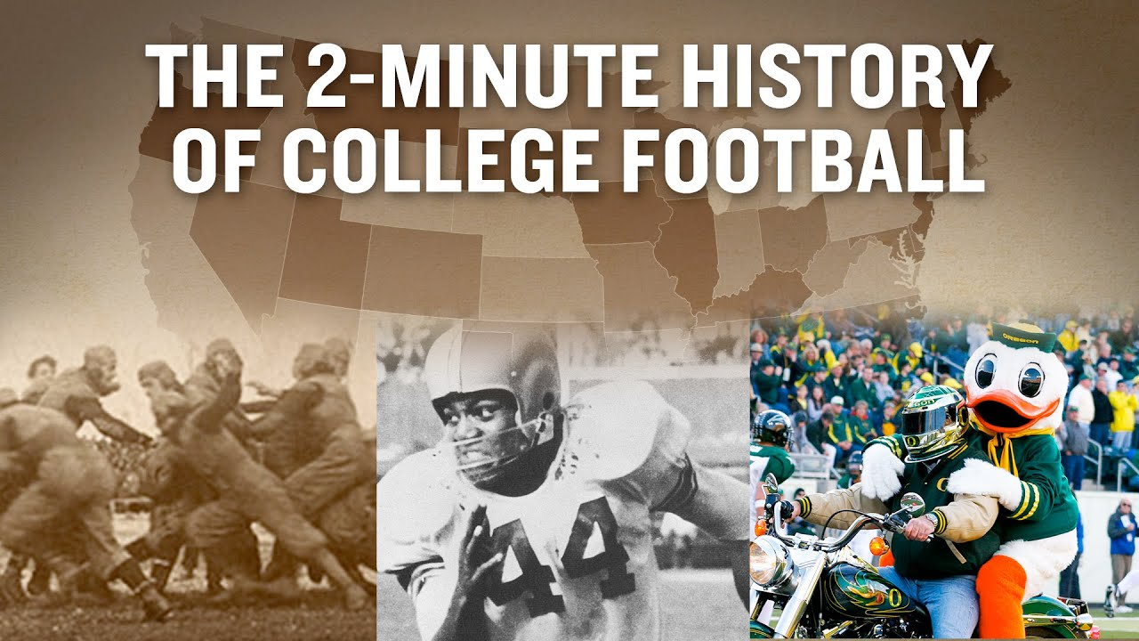 history of college football Your love of college football doesn't end when you graduate follow the teams, athletes, and plays you care about with this guide featuring predictions and analysis.