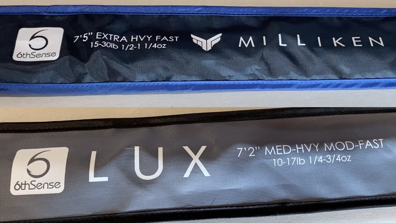 6th Sense Lux & Milliken Fishing Rods Unboxing - YouTube