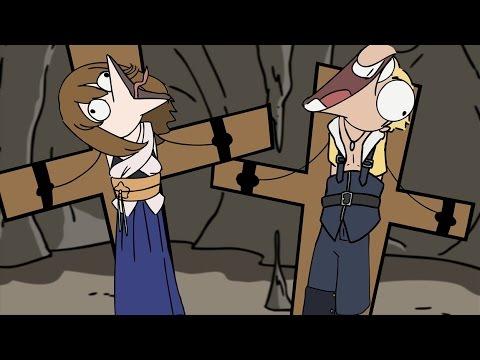 Final Fantasy X Laughing Scene Animation (CRINGE)