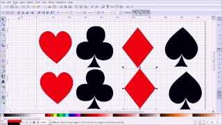 Inkscape Tutorial Making a Vector Outlines of Playing Card Suits, Practising Bezier Curves