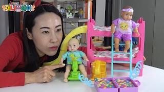 Jenny play 아기인형 놀이방 침대세트 장난감 놀…