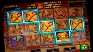 Cleopatra 2x Bonus + ReTrigger BIG WIN on 5c IGT Slots