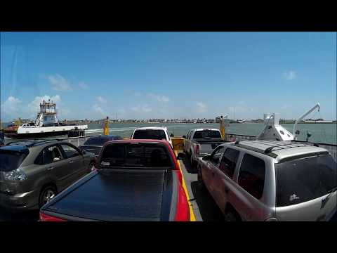 Class A Motorhome on Ferry to Port Aransas