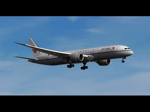 Air China - Boeing 787 - Landing - Auckland Intl. Airport